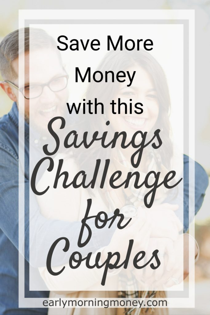 Save more money with this savings challenge for couples.